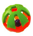 HB41101 EXTRA LGE ROUND RATTLE FOOT TOY 5""