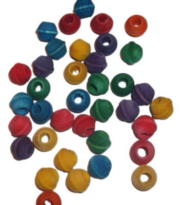 RM SWBC100 COLORED SMALL WOODEN BEADS