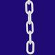 RM PC3W 3 INCH WHITE PLASTIC CHAIN PER FOOT